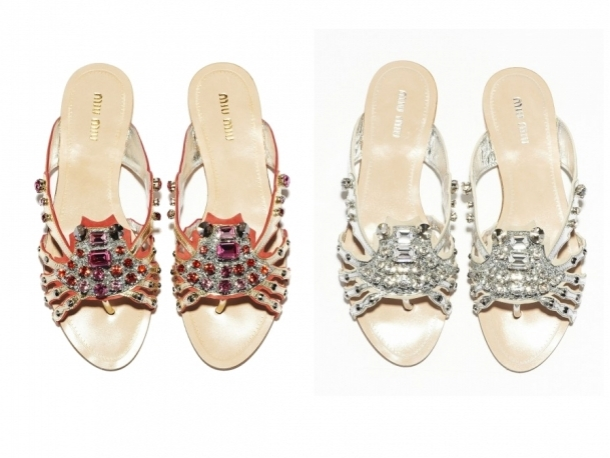 Miu Miu Crystal Marine Sandals Summer 2012