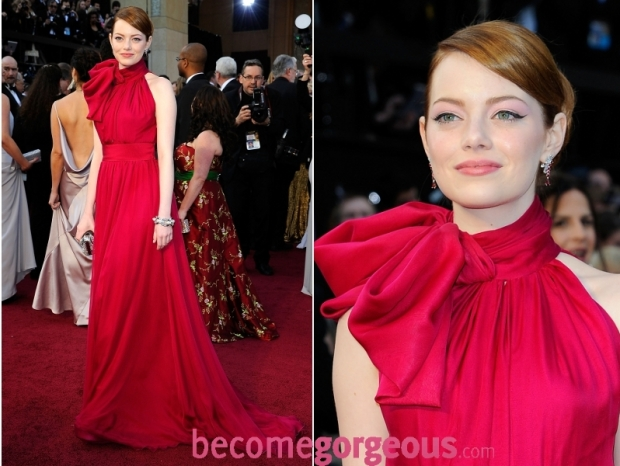 Emma Stone 2012 Oscars Dress