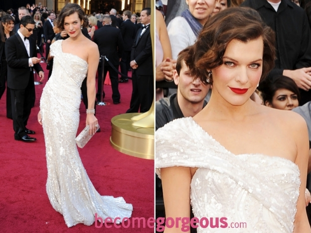 Mial Jovovich 2012 Oscars Gown