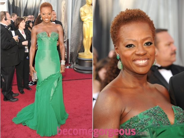 Viola Davis 2012 Oscars Dress