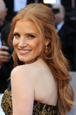 Jessica Chastain 2012 Oscars Hairstyle