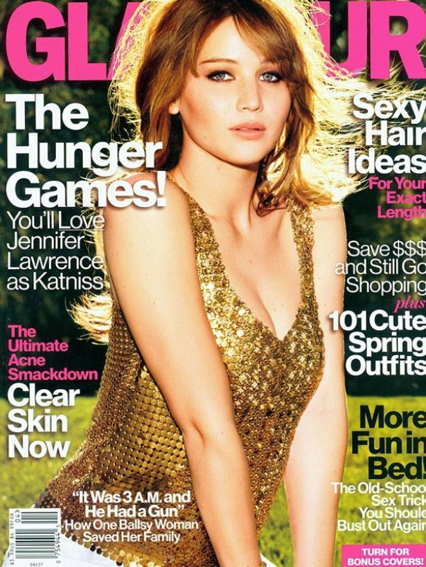 Jennifer Lawrence Covers Glamour US April 2012