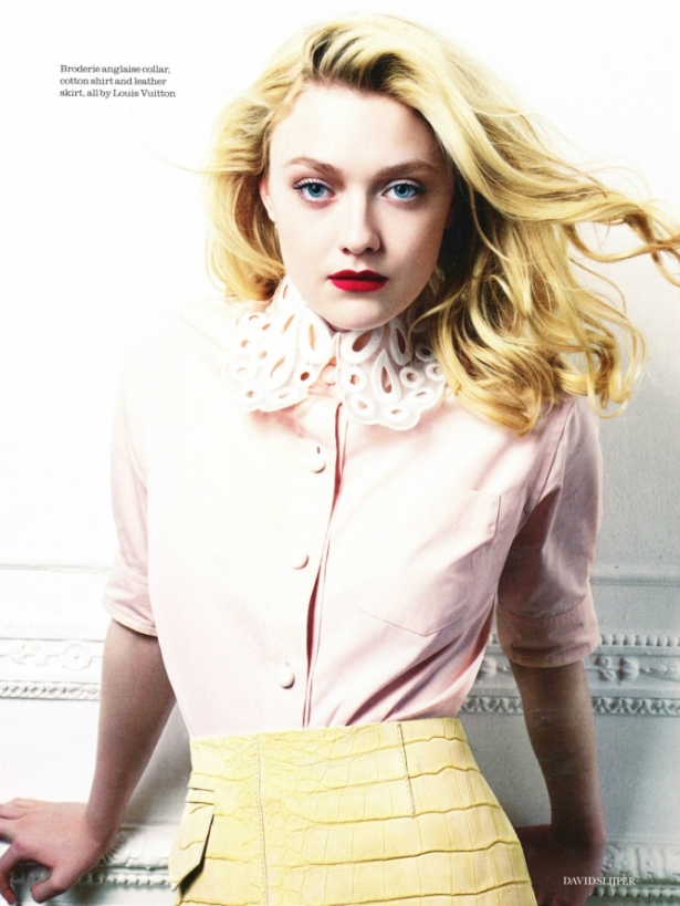 Dakota Fanning Covers ELLE UK February 2012