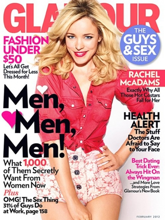 Rachel McAdams Covers Glamour February 2012