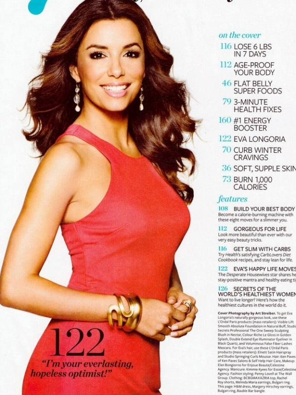 Eva Longoria Covers Health Magazine January/February 2012