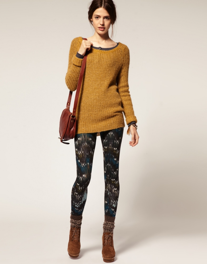 printed leggings spring 2012 trends