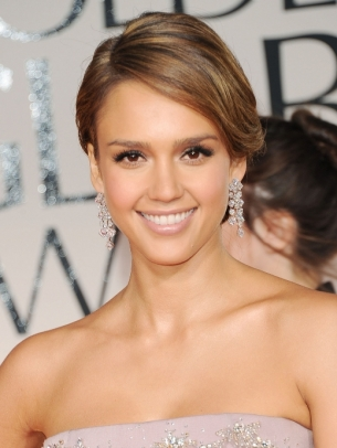 Jessica alba hair 2012 golden globes
