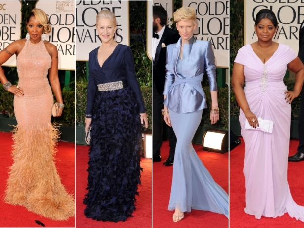 2012 Golden Globe Awards Red Carpet Gowns