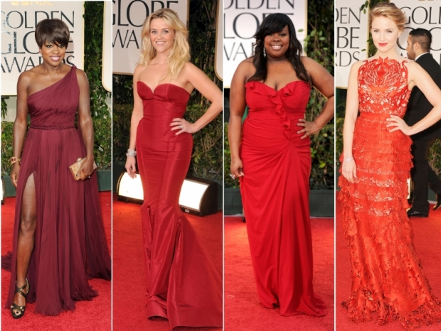 2012 Golden Globes Dresses