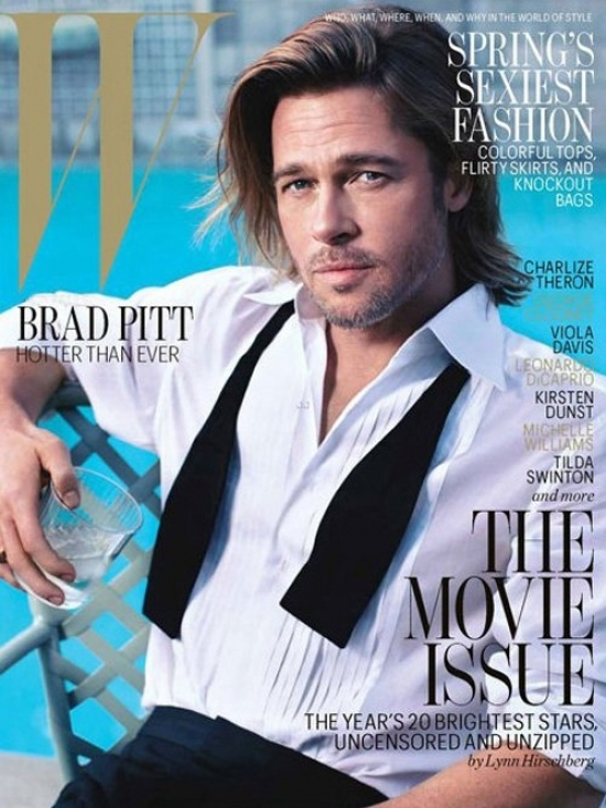 Brad Pitt Covers W Magazine February 2012