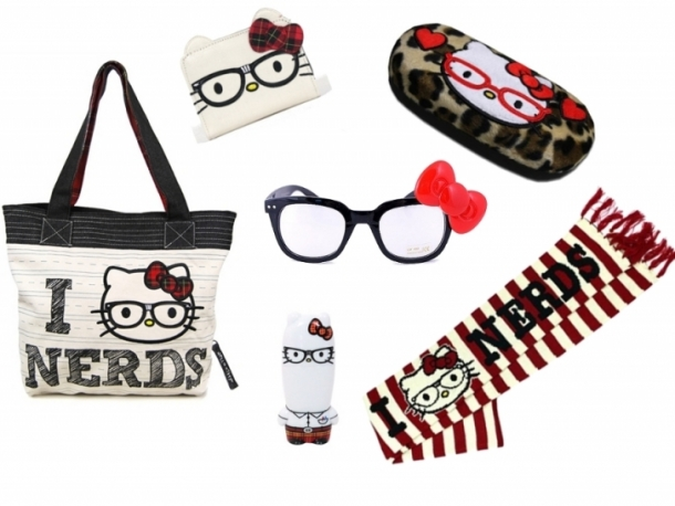 Hello Kitty I Love Nerds Accessories Collection