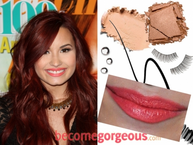 Demi Lovato Makeup Looks for Summer 2012