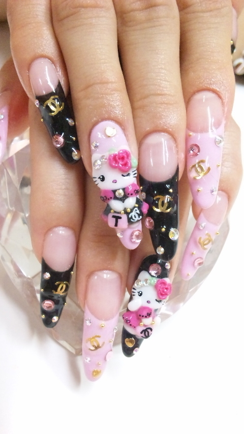 Nail Designs Hello Kitty Nail Designs Hair Styles Tattoos And