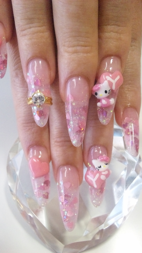 Hello Kitty Nail Art Designs