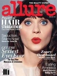 Zooey Dechanel Covers Allure February 2012