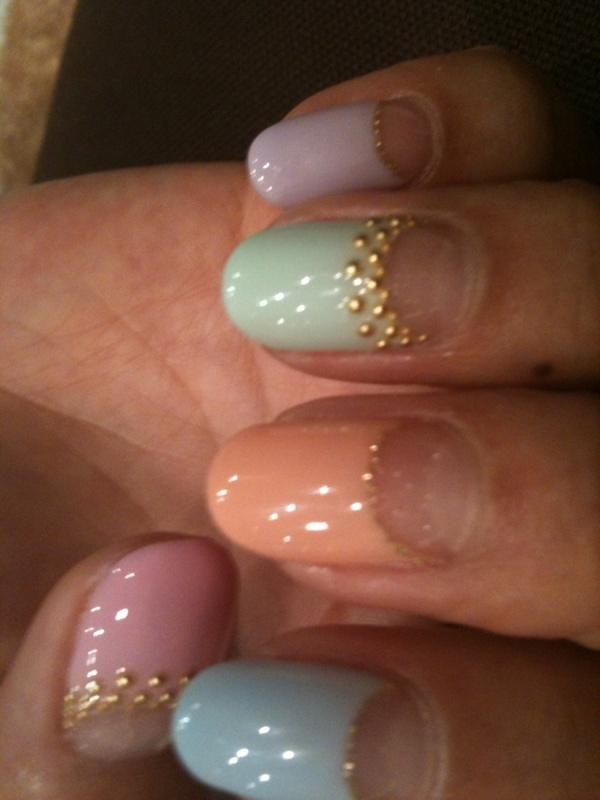 half moon manicure designs for summer