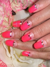 Half Moon Manicure Designs for 2012