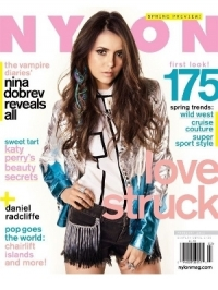 Nina Dobrev Covers NYLON February 2012