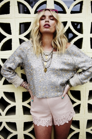 Alexandra Spencer for Free People January 2012 Lookbook