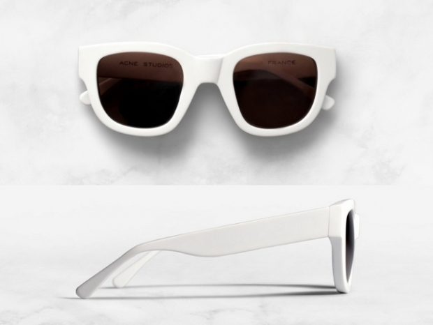 ACNE White Frame Sunglasses 2012