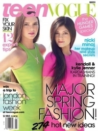Kendall and Kylie Jenner Cover Teen Vogue March 2012