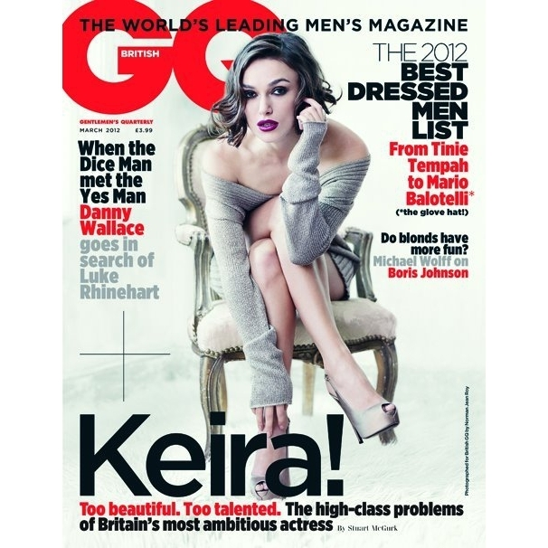 Keira Knightley Gets Sexy on the Cover of GQ UK March 2012