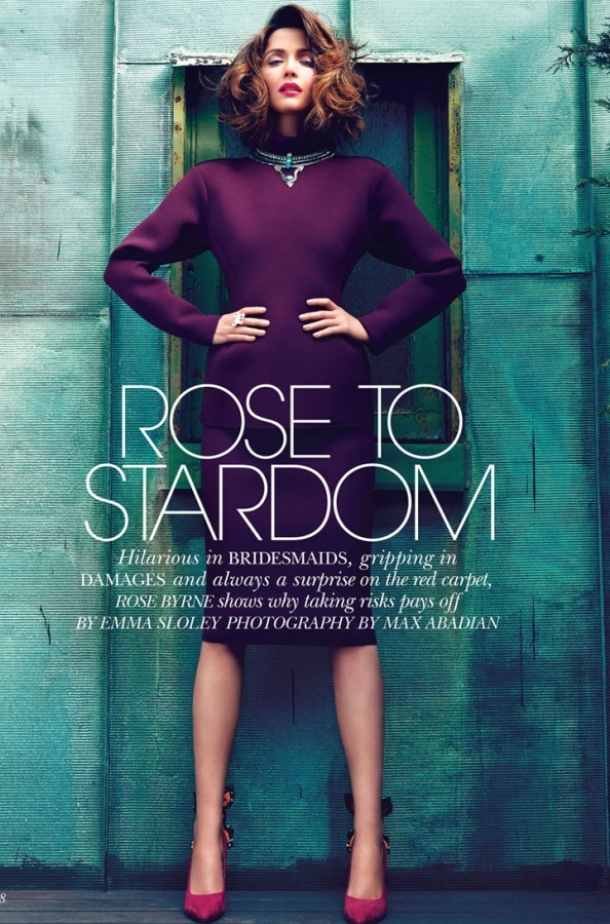 Rose Byrne Covers Flare August 2012
