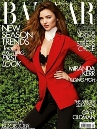 Miranda Kerr Covers Harper's Bazaar UK August 2012
