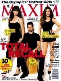 Total Recall Cast Covers Maxim July/August 2012
