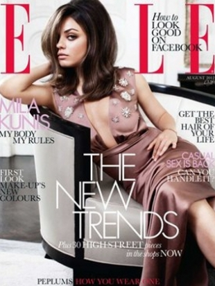 Mila Kunis Covers ELLE UK August 2012