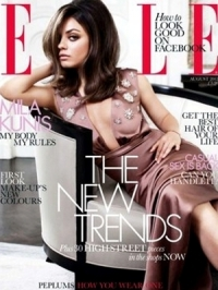 Mila Kunis Covers ELLE UK August 2012 | Talks Ashton Kutcher Rumours
