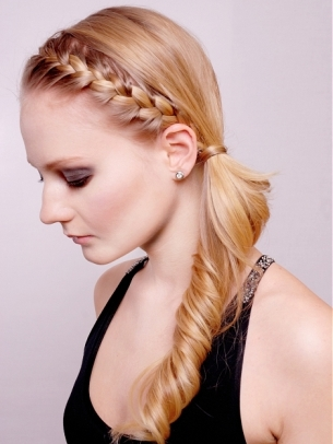 Front French Braid Ponytail