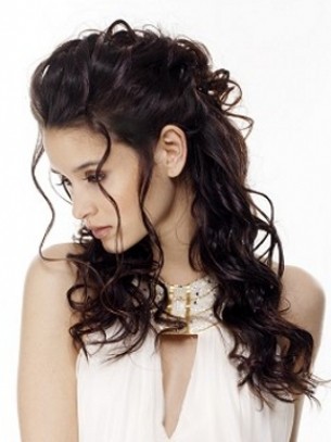 Romantic Curly Half Up Hairstyle