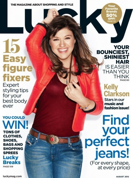 Kelly Clarkson Covers Lucky August 2012