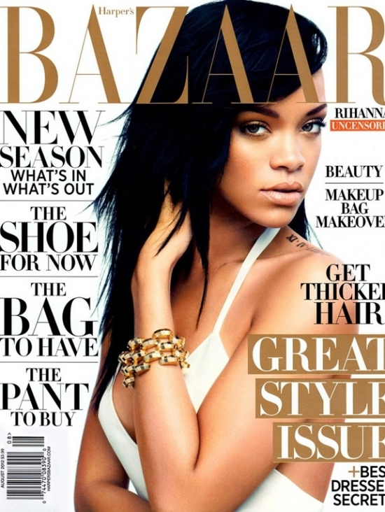 Rihanna Talks Love, Diet and Music With Harpers Bazaar August 2012