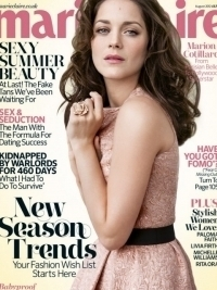 Marion Cotillard Covers Marie Claire UK August 2012
