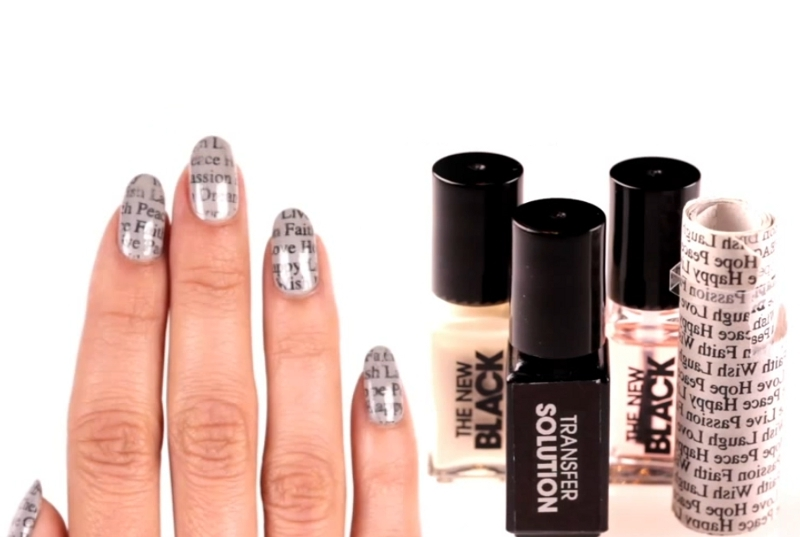 Newsprint Nail Art Set by Sephora.