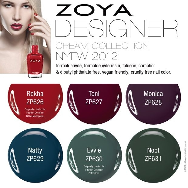 Zoya Fall 2012 Nail Polishes Designer Collection