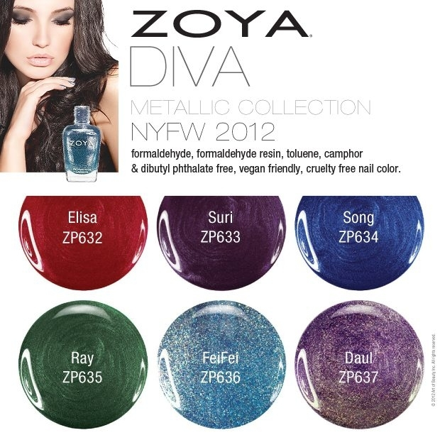 Zoya Fall 2012 Nail Polishes Diva Collections
