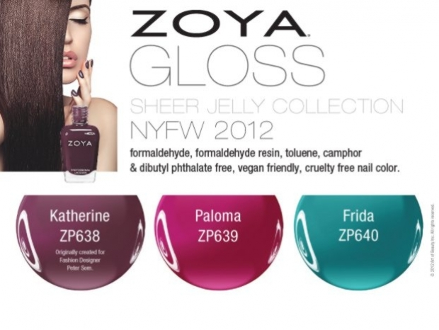 Zoya Fall 2012 Nail Polishes Gloss Collection