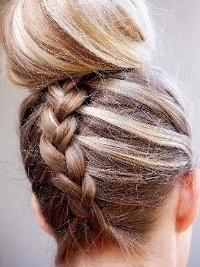 Hair Trend Alert! Inverted French Braid Top Knot Tutorial