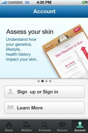 Free mySkin App for iPhone