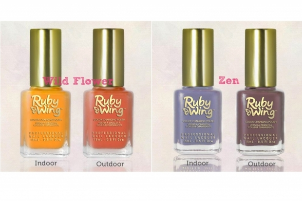 Color Club Ruby Wing Color Changing Nail Polishes