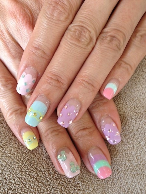 Colorful nail art ideas for bright nails this is a trend that weve mentioned numerous times so if youre looking for a trendy romantic and ultra feminine nail art design floral nail art is the prinsesfo Image collections