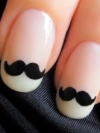 How to Make Movember Mustache Nail Art