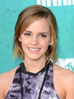 Emma Watson Hairstyle 2012 MTV Movie Awards