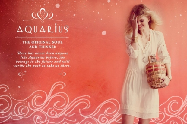 Aquarius Free People Zodiac June 2012 Catalog