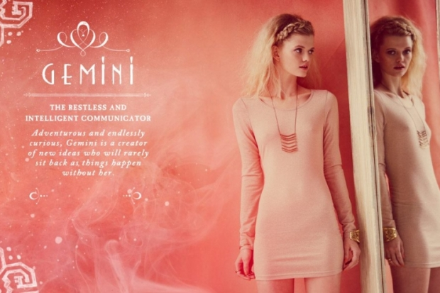 Gemini Free People Zodiac June 2012 Catalog
