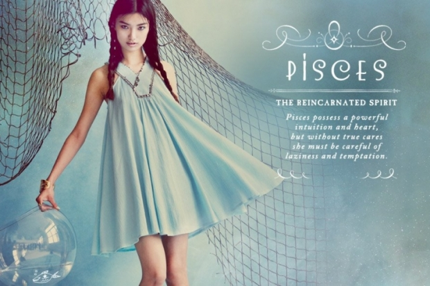 Pisces Free People Zodiac June 2012 Catalog