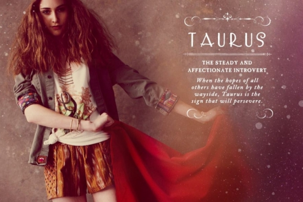 Taurus Free People Zodiac June 2012 Catalog